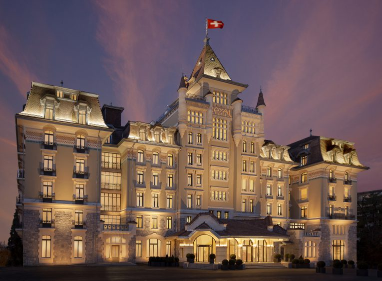 Royal Savoy Lausanne by Night