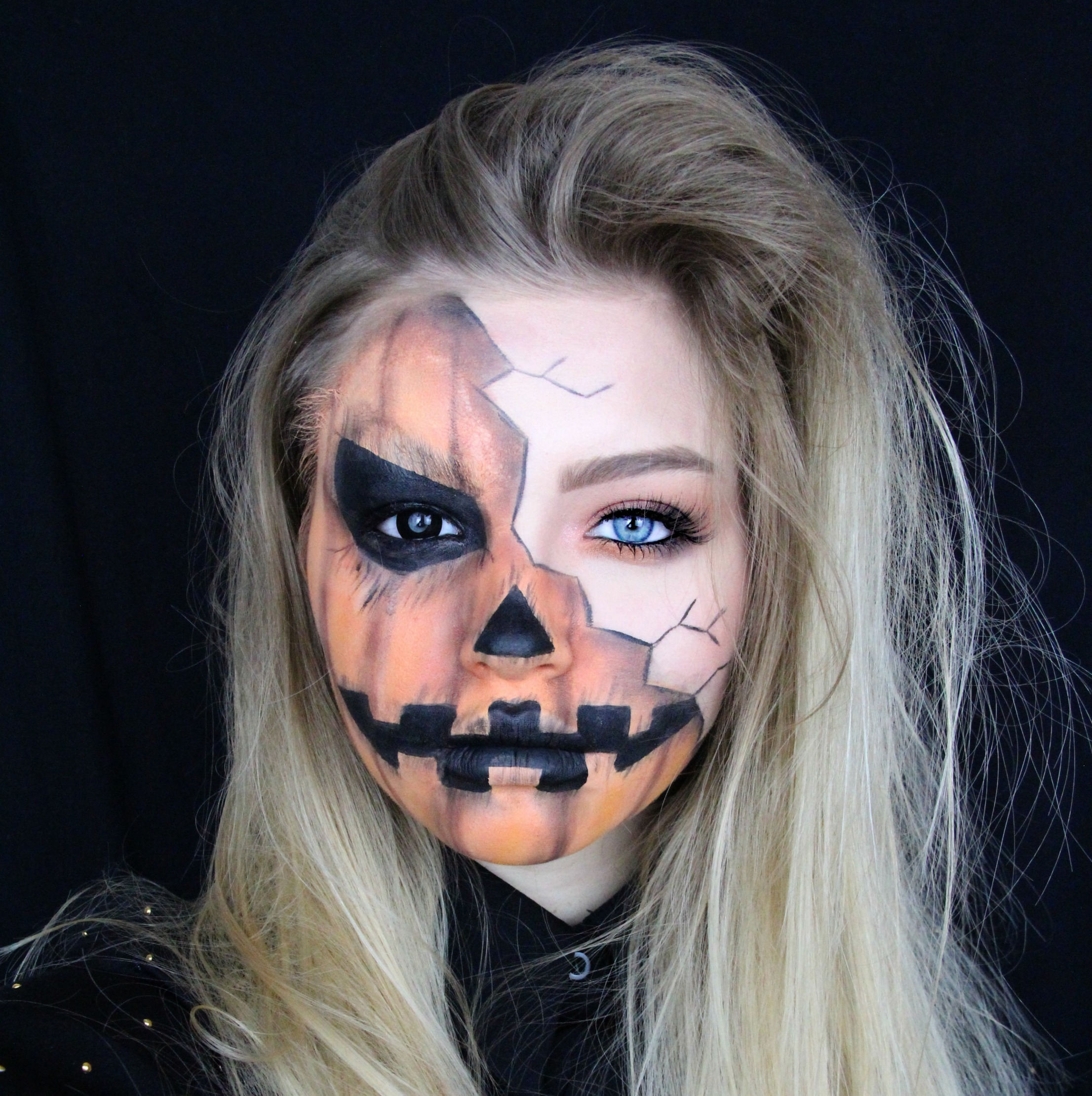 halloween creepy pumpkin makeup tutorial mygloss. Black Bedroom Furniture Sets. Home Design Ideas