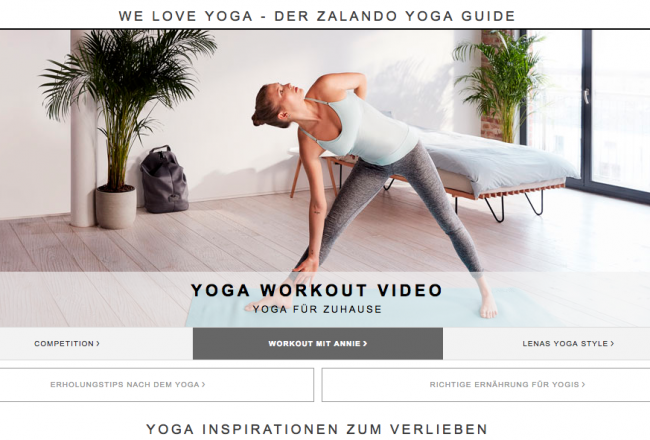 Yoga-Videos Zalando
