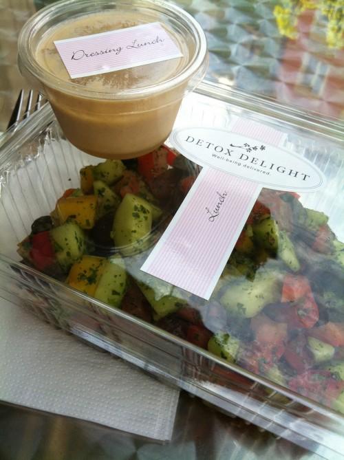 Mein Mittagessen am 4. Tag: Griechischer Salat