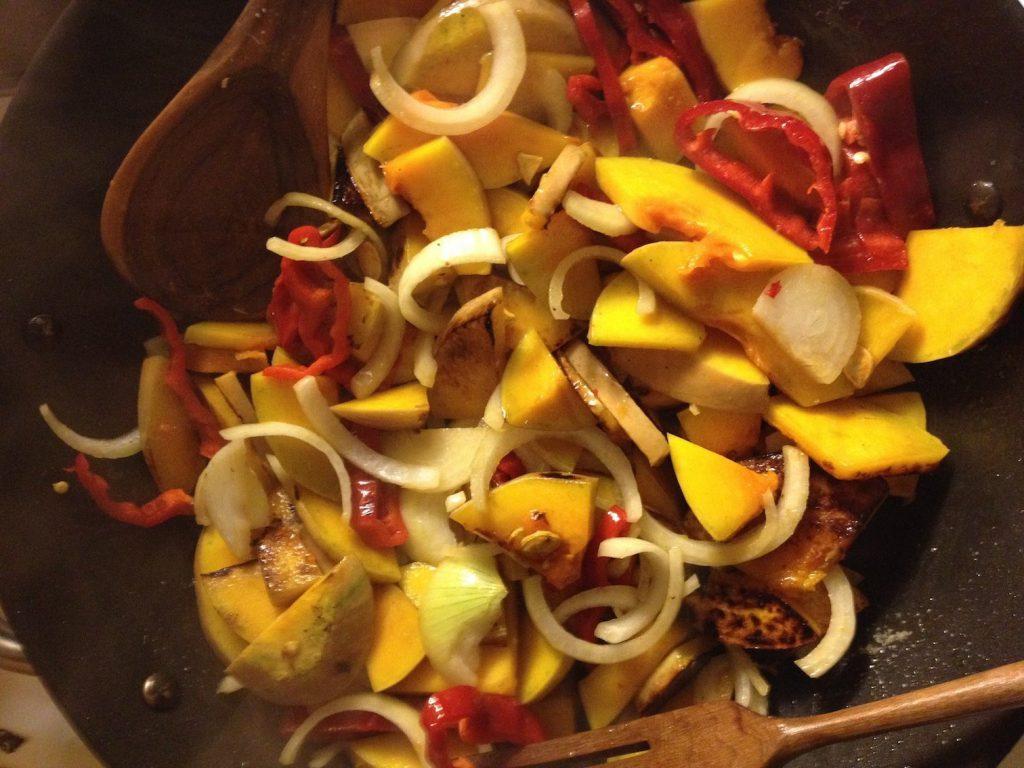 Warmer Herbstsalat