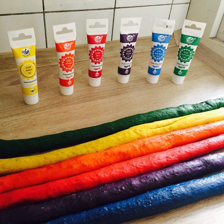 Rainbow Bagel Farben