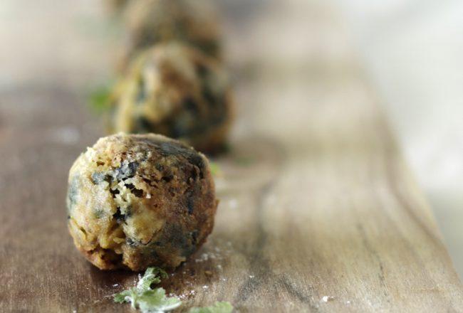 Kichererbsen-Spinat-Bällchen