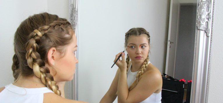 Makeup Look mit Fun Linsen_1