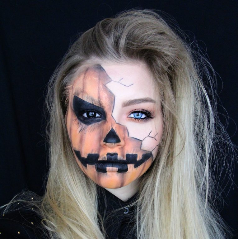 Creepy Pumpkin Makeup