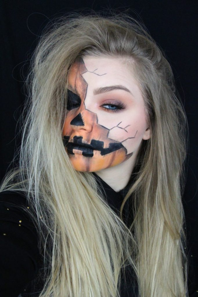 Creepy Pumpkin Makeup Portrait