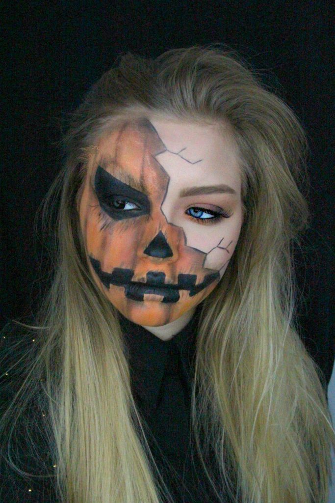 Creepy Pumpkin Make Up_myGloss