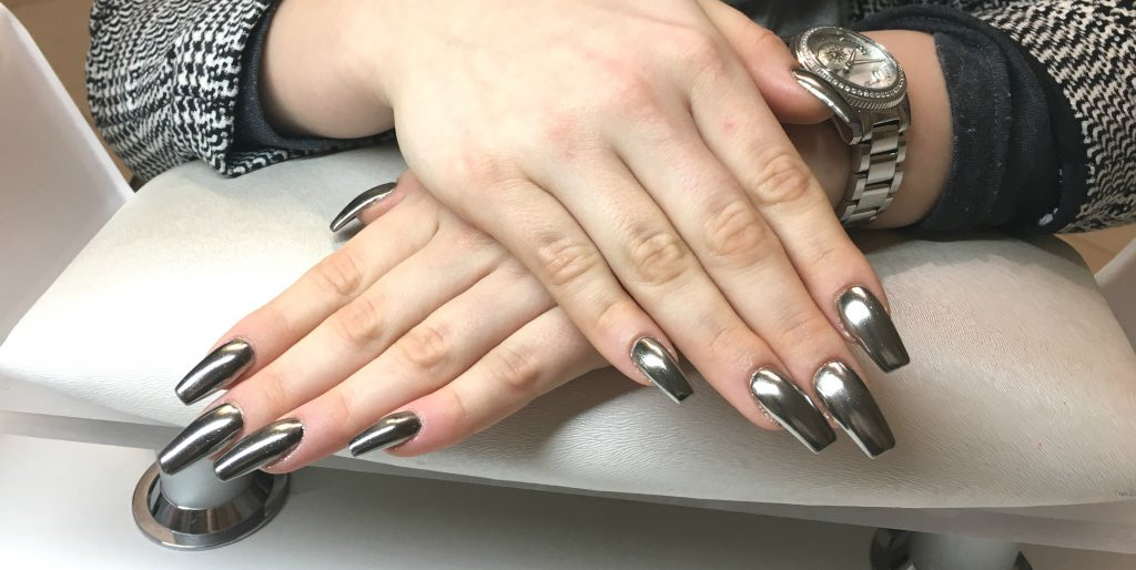 Chrome Nails by my nice nails